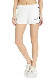 PUMA Women's Amplified French Terry Shorts White