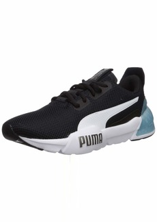 PUMA Women's Cell Phase Sneaker Black Silver  M US