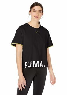PUMA Women's Chase Cotton TEE Black M