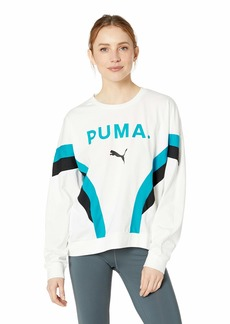 PUMA Women's Chase Long Sleeve Top White S