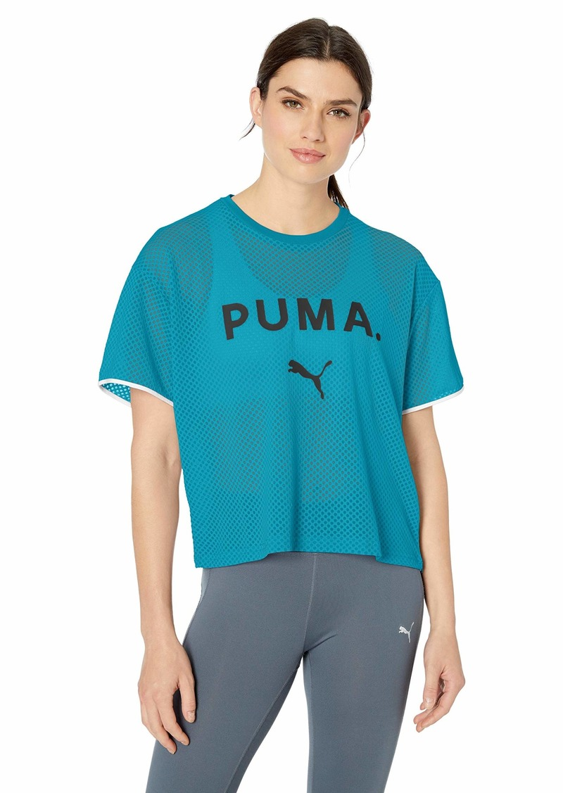 PUMA Women's Chase Mesh T-Shirt  L