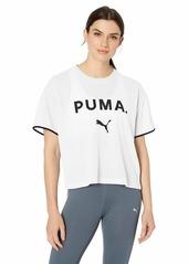 PUMA Women's Chase Mesh T-Shirt puma White L