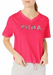 PUMA Women's Chase V-Neck T-Shirt  L