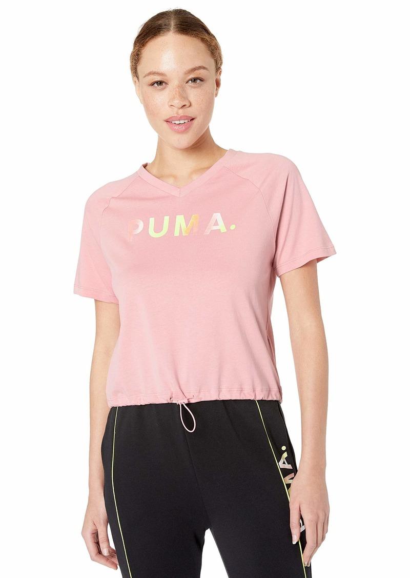 PUMA Women's Chase V-Neck T-Shirt  XL