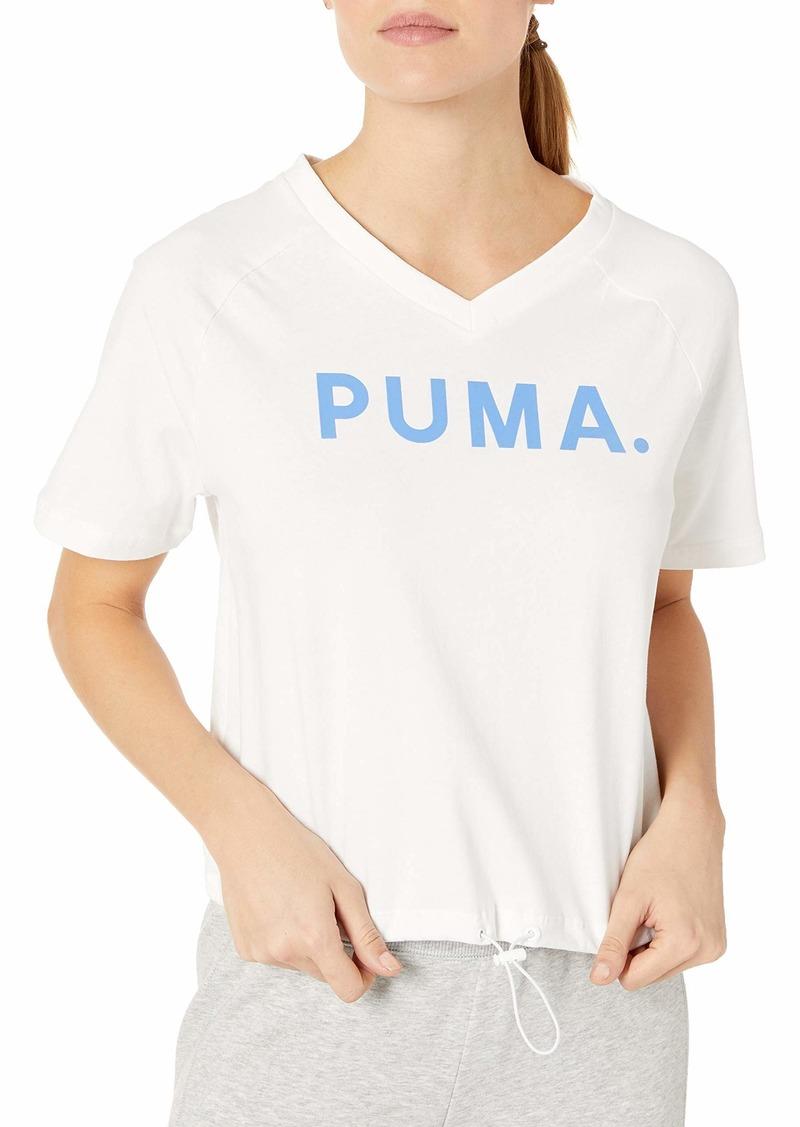 PUMA Women's Chase V-Neck T-Shirt White S