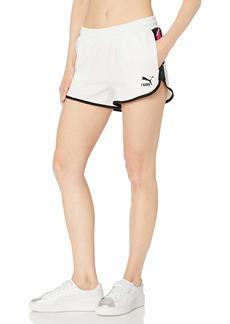 PUMA Women's Clash All Over Print Shorts White M
