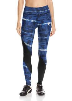 PUMA Women's Clash Leggings Black/True Blue/Feather Print