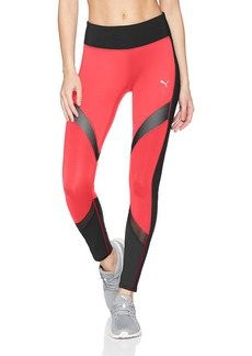 PUMA Women's Clash Tight Leggings Paradise Pink Black XL