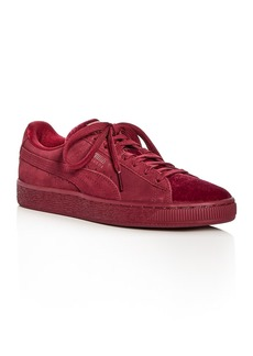 PUMA Women's Classic Suede & Velvet Lace Up Sneakers