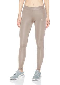PUMA Women's Classics Logo Satin Stripe T7 Leggings  XS