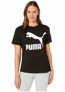 PUMA Women's Classics Logo Tee Black XS