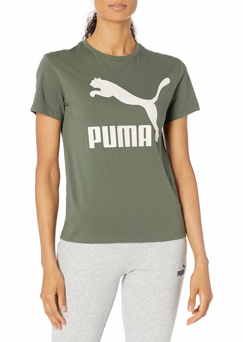 PUMA womens Classics Logo Tee Shirt   US