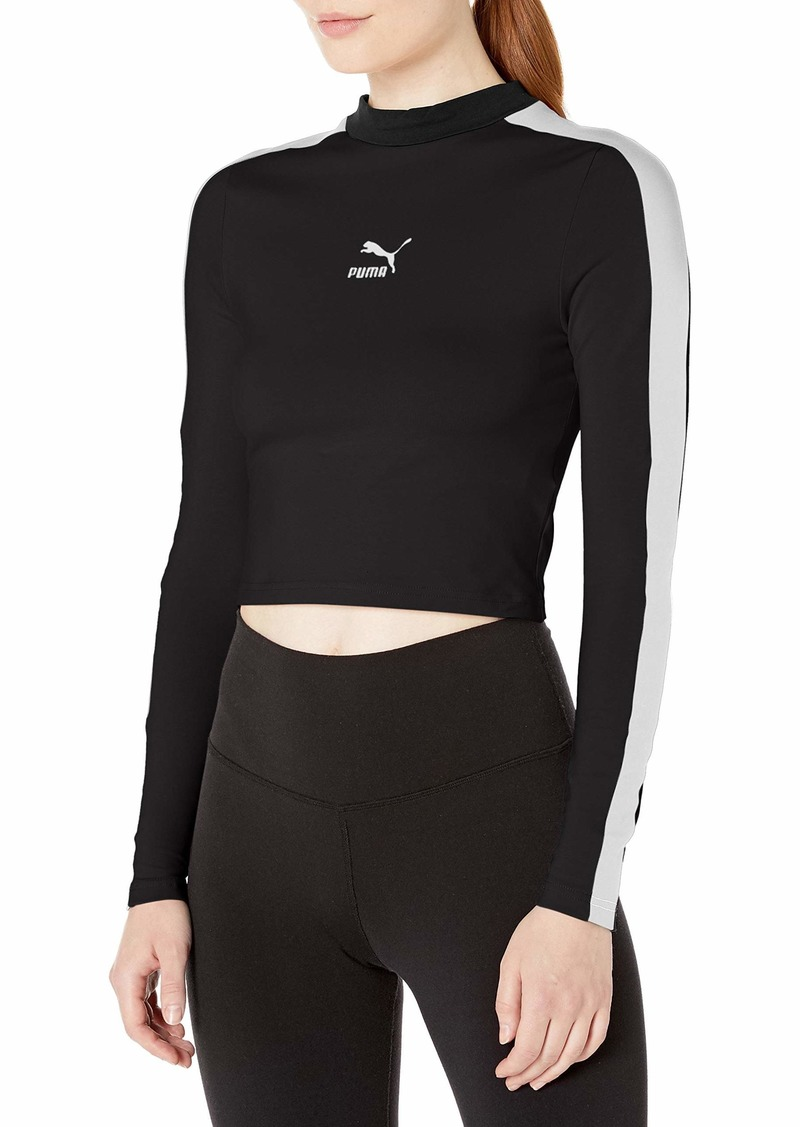 PUMA Women's Classics Long Sleeve Cropped TOP  L