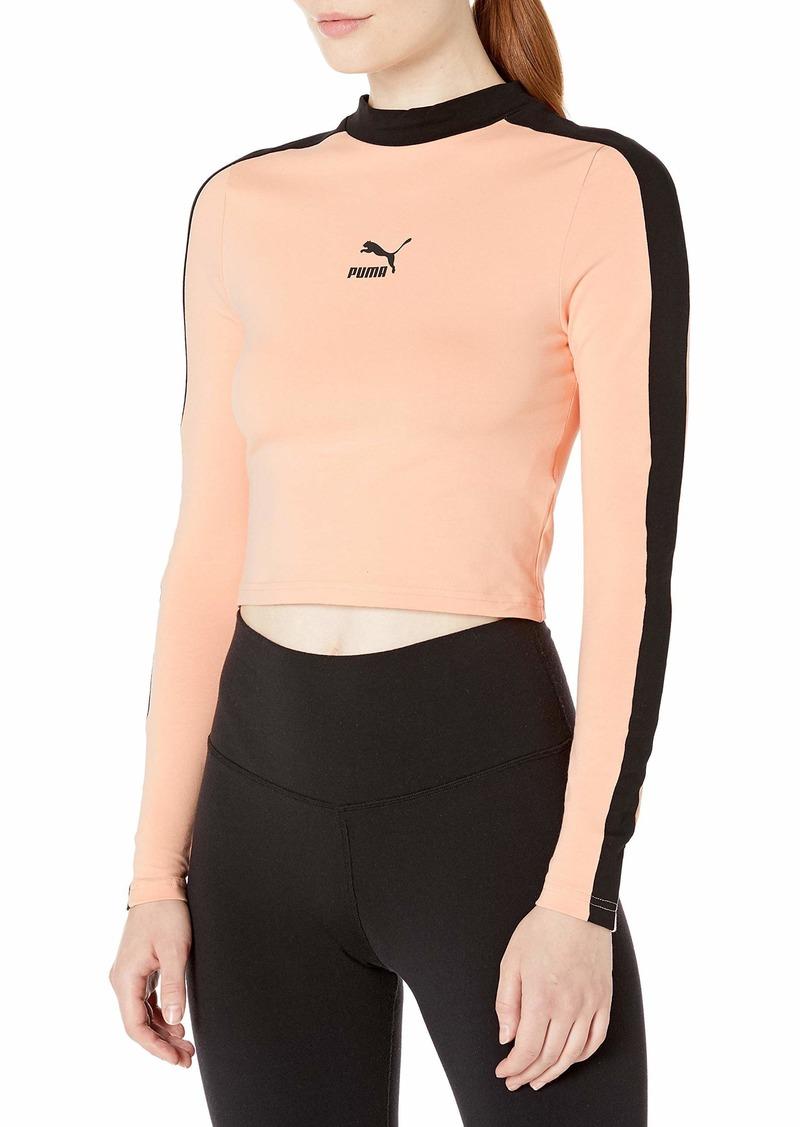 PUMA Women's Classics T7 Long Sleeve Crop Top
