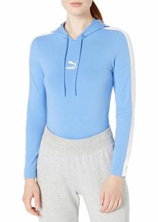 PUMA Women's Classics T7 Long Sleeve Hoofed Bodysuit  S