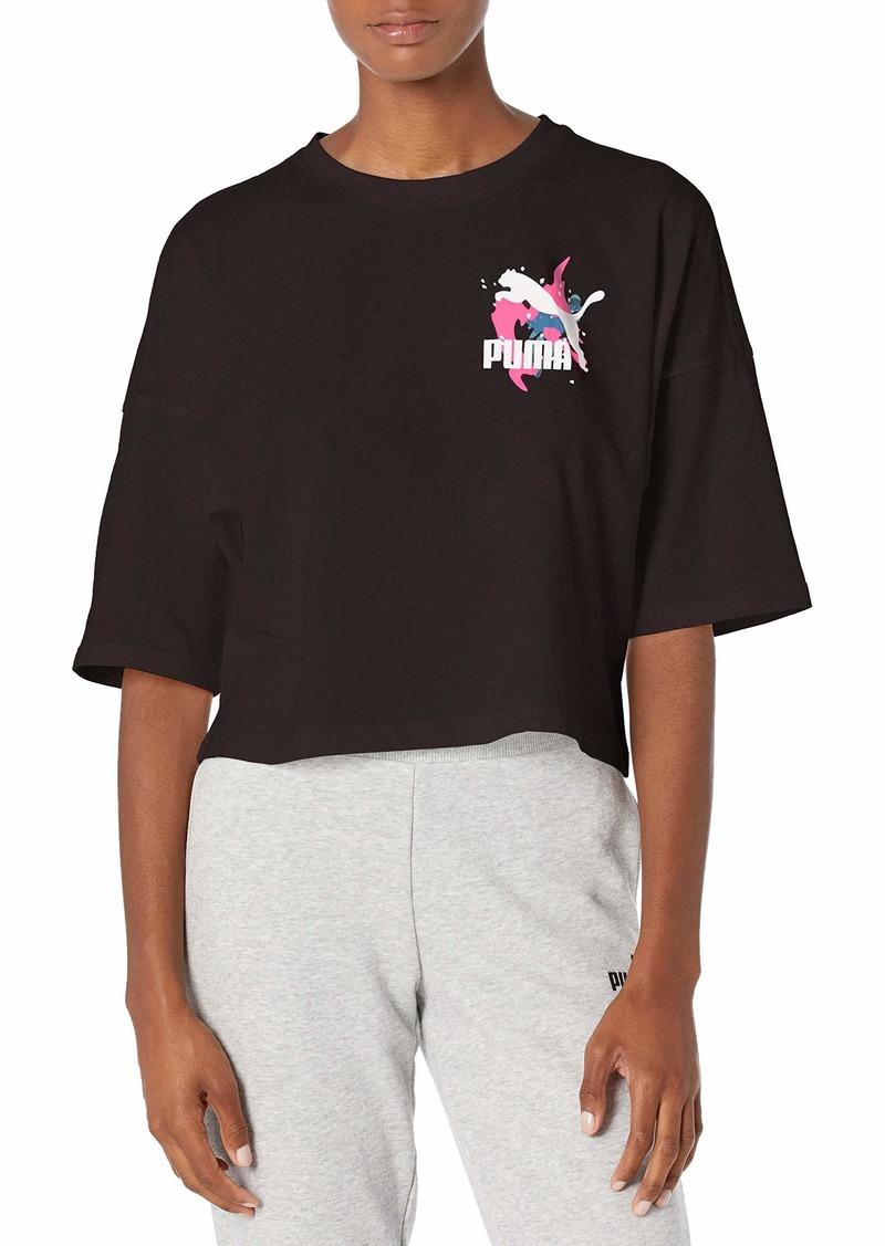 PUMA Women's Classics Loose Fit T-Shirt Black S