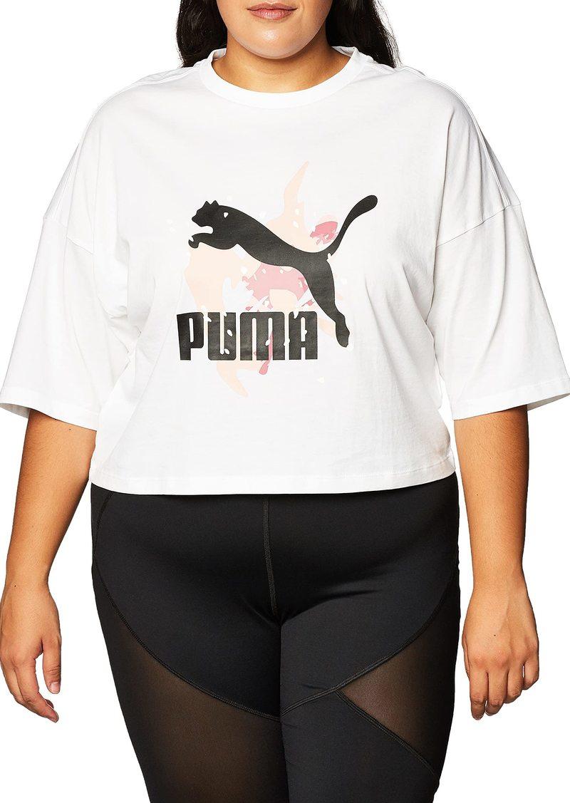 PUMA Women's Classics Loose Fit T-Shirt White XS