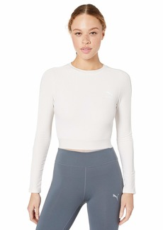 PUMA Women's Classics Rib Long Sleeve Top  XL