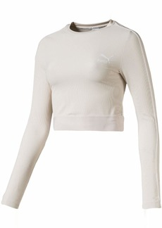 PUMA Women's Classics Rib Long Sleeve Top  M