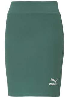Puma Women's Classics Ribbed Fitted Skirt