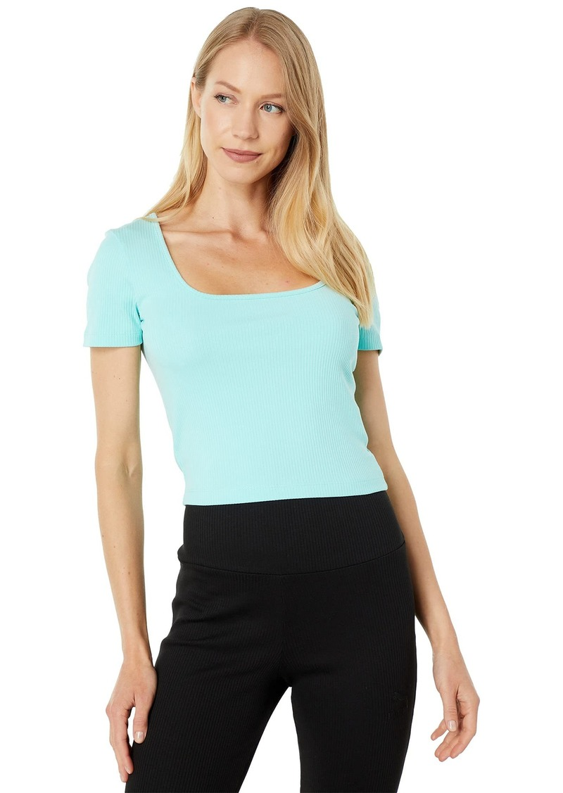PUMA Women's Classics Ribbed Fitted Tee