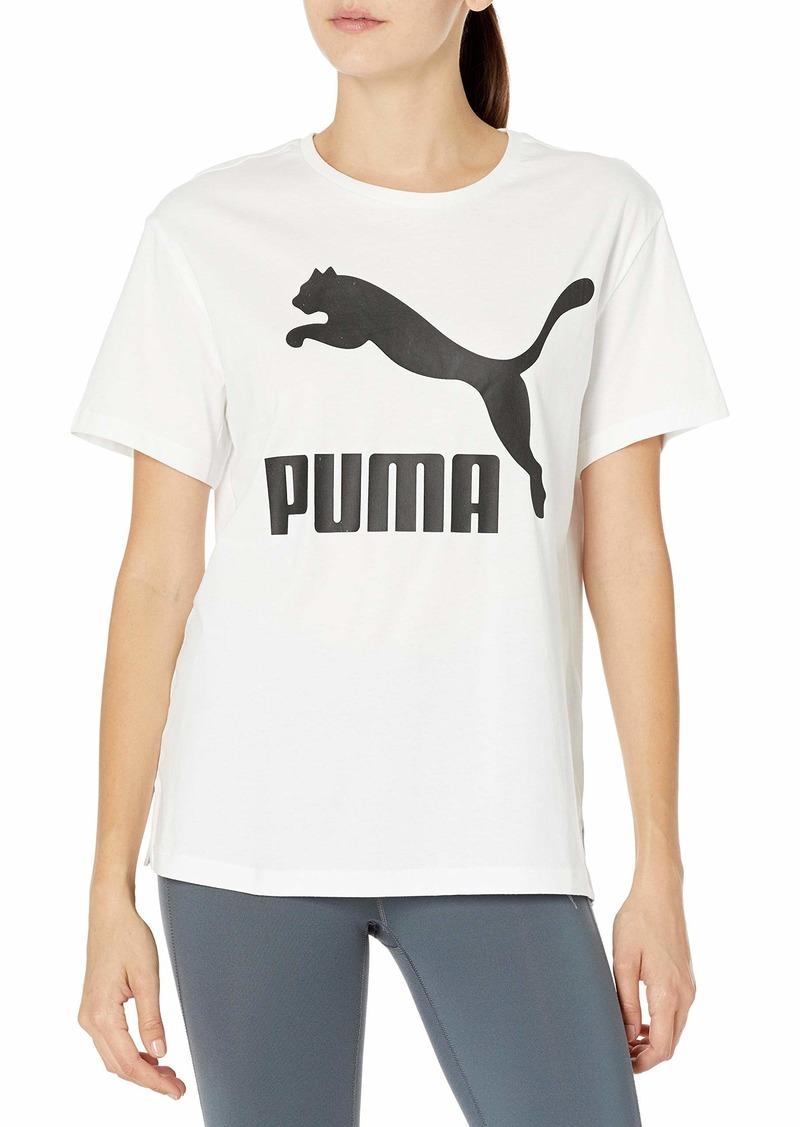 PUMA Women's Classics Logo T-Shirt White L