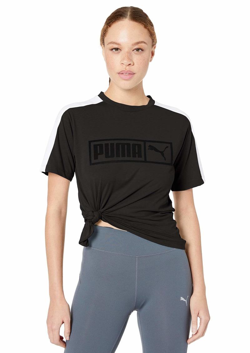 PUMA Women's Classics T7 T-Shirt Black L