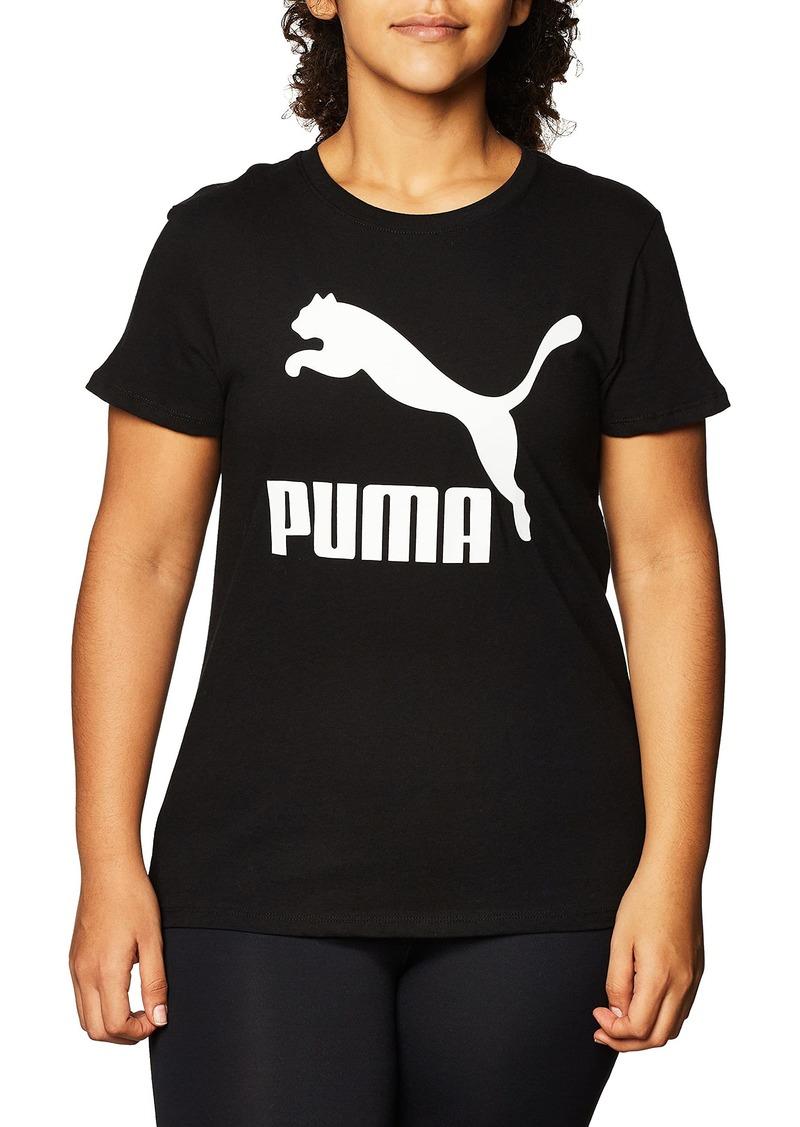 PUMA Women's Plus Size Classics Tee Black