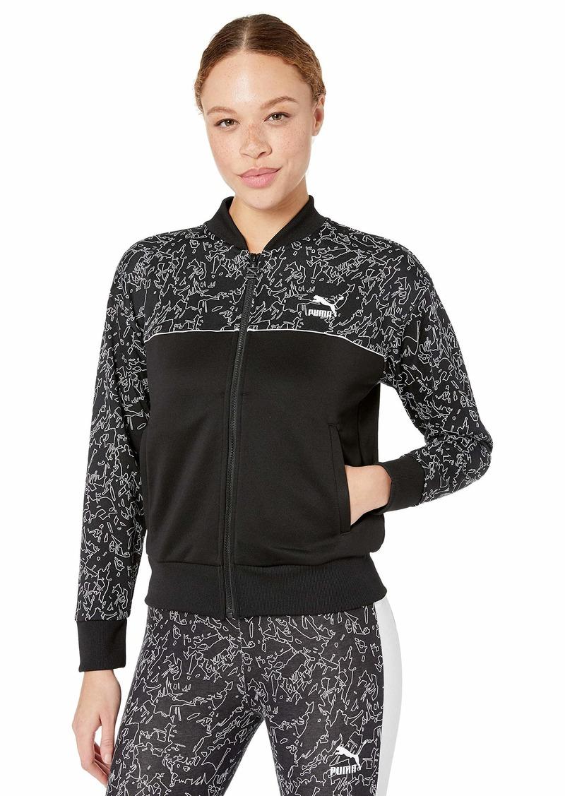PUMA Women's Classics All Over Print Track Jacket puma Black S