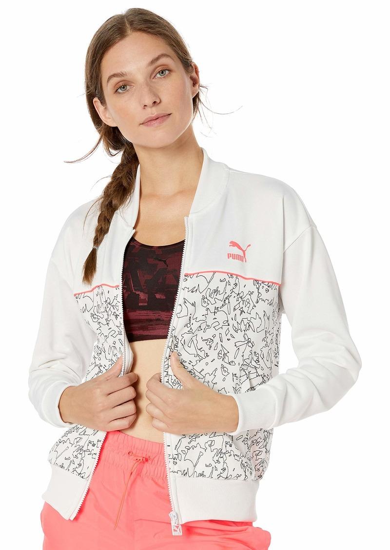 PUMA Women's Classics All Over Print Track Jacket White L