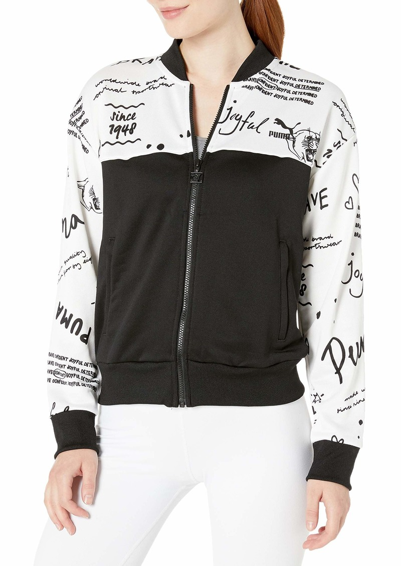 PUMA Women's Classics All Over Print Track Jacket puma White