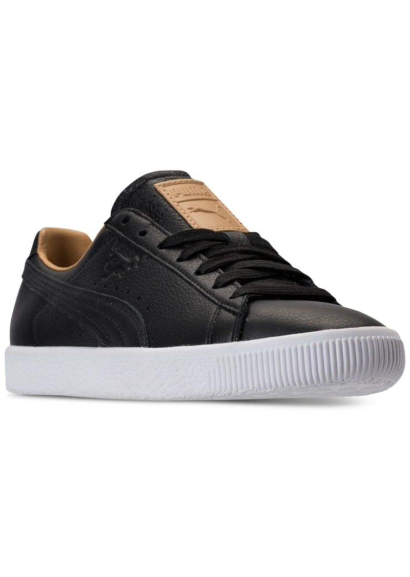 ac20036bc17201 Puma Puma Women s Clyde Core Leather Casual Sneakers from Finish ...