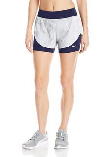 PUMA Women's Culture Surf 2in1 Shorts White/White Swirl Print XL