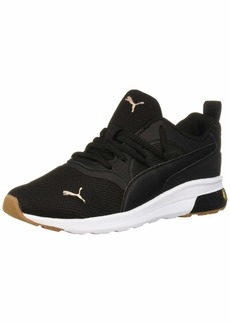 PUMA Women's Electron Star Sneaker Black-Rose Gold White-Gum  M US