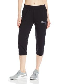 PUMA Women's Elevated 3/4 Sweatpants  L