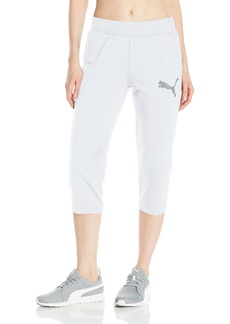 PUMA Women's Elevated 3/4 Sweatpants White XL