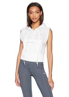 PUMA Women's En Pointe Sleeveless Half Zip Jacket White M