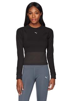 PUMA Women's En Pointe Tight Long Sleeve Shirt Black S