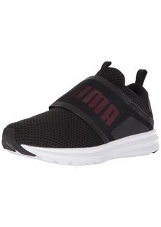 PUMA Women's Enzo Strap Mesh Wn Sneaker Black-Paradise Pink  M US
