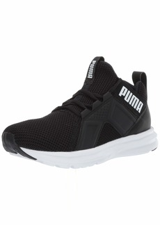 PUMA Women's Enzo Weave Sneaker Black White  M US
