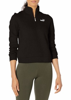PUMA Women's ESS+ Half-Zip Crew Fleece Black XS