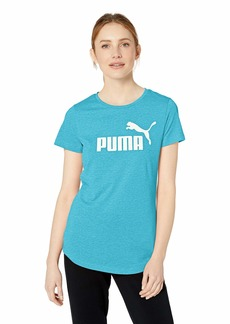 PUMA Women's Essential + Logo Heather TEE Caribbean sea L