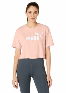 PUMA Women's Essential Cropped Logo TEE  M