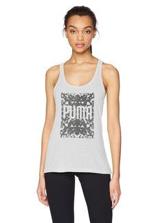 PUMA Women's Essential Drirelease Tank Top White Heather XL