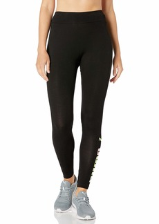 PUMA Women's Essentials + Graphic Leggings Black L