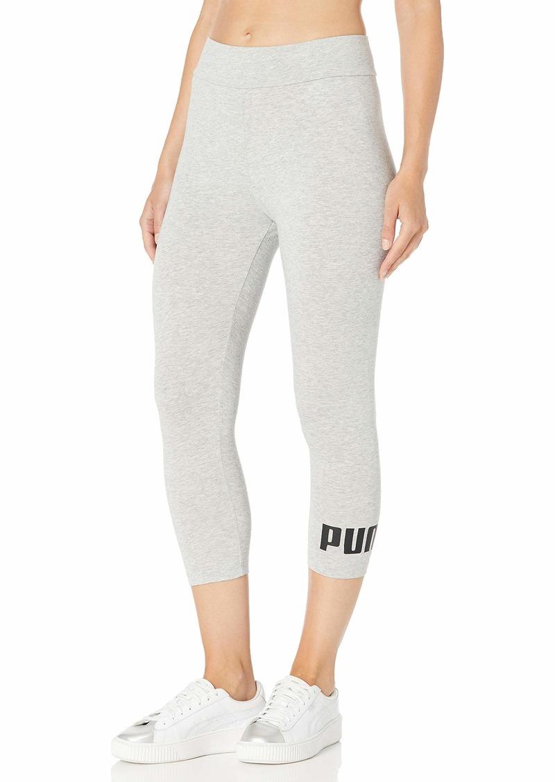PUMA Women's Essentials 3/4 Logo Leggings