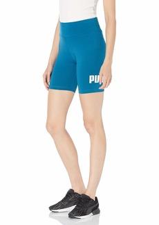 """PUMA Women's Essentials+ 7"""" Tight Shorts Digi-Blue L"""