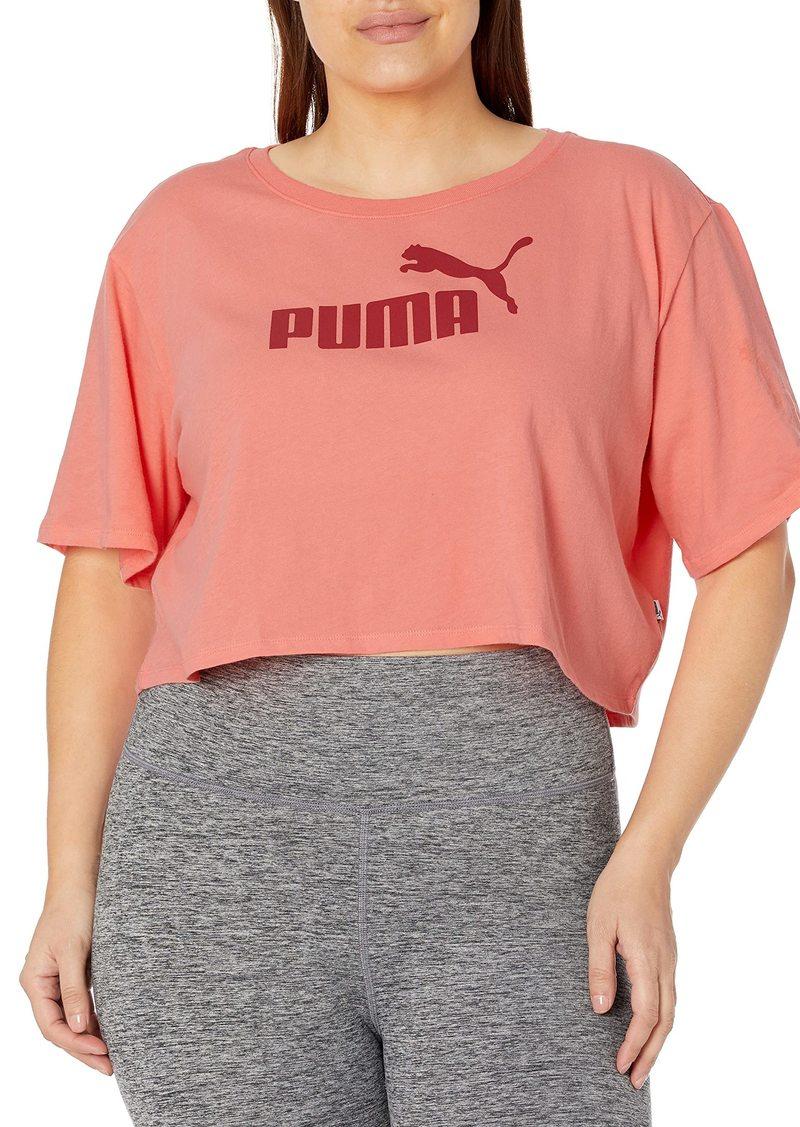 PUMA womens Essentials Cropped Logo Tee TShirt Georgia Peachtonal XSmall US