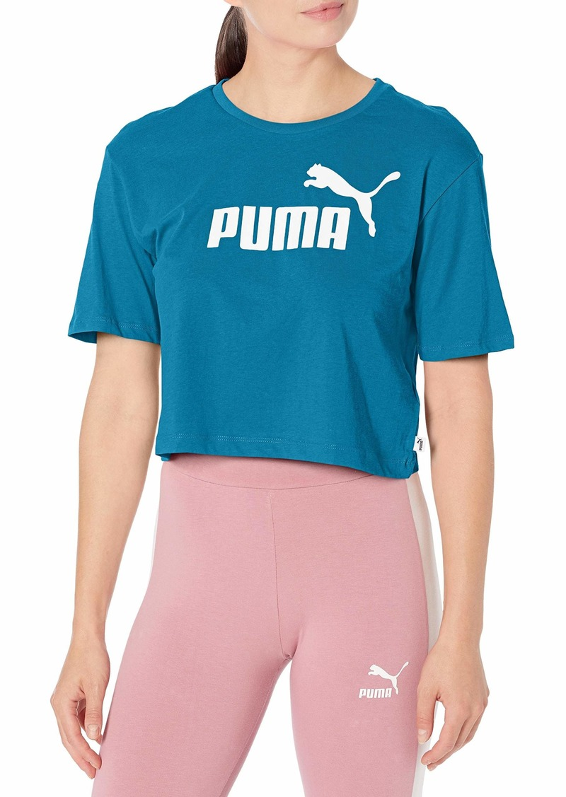 PUMA Women's Essentials+ Cropped T-Shirt Digi-Blue L
