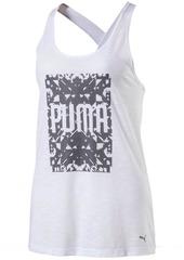 PUMA Women's Essentials Drirelease Tank Top White Heather XXS
